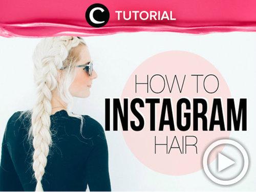 Kamu juga bisa mendapatkan rambut yang instagramable dengan braids cantik seperti dalam video berikut ini http://bit.ly/2dHq2sF. Video ini di-share kembali oleh Clozetter: @kyriaa. Cek Tutorial Updates lainnya pada Tutorial Section.