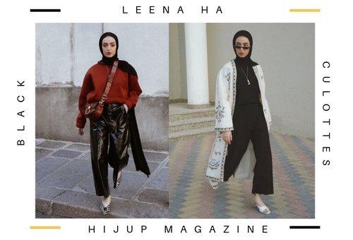 5 Cara Mix And Match Celana Kulot Hitam Ala Leena Ha