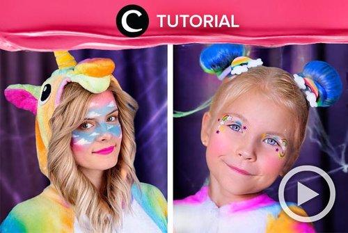 Belum kepikiran Halloween tahun ini akan berdandan jadi apa? Coba tampil ala unicorn dengan makeup menggemaskan dan penuh glitter ini: http://bit.ly/2o2A0Kz. Video ini di-share kembali oleh Clozetter @kyriaa. LIhat juga tutorial lainnya di Tutorial Section.