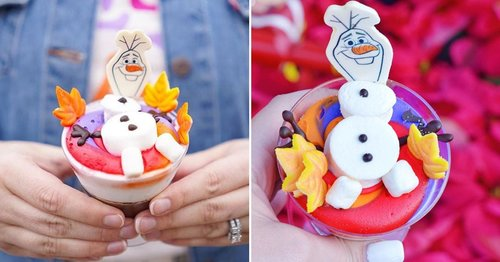 Disney World Has Frozen-Themed Hot Chocolate Cake Topped With a Marshmallowy Olaf