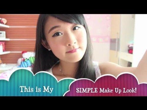 Veren Lee's : How I do My Make Up (Simple Eye makeup Tutorial for Monolids!)