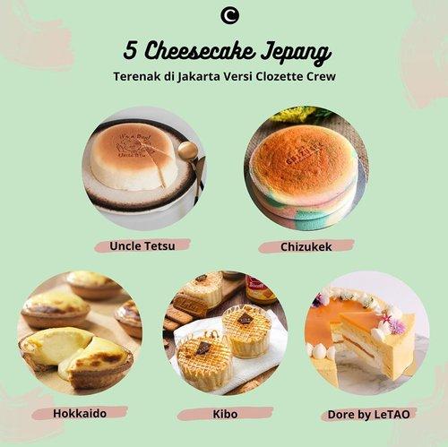 Untuk menemani hari kamu, Clozette Crew punya rekomendasi cake yang bisa kamu order untuk cemilan di rumah bareng keluarga. Khususnya untuk Clozetters pecinta keju, harus coba rekomendasi cheesecake terenak versi Clozette Crew, nih!  Ada @uncletetsuindonesia dengan Japanese soft cheesecake nya, @chizukek yang fluffy, @hokkaido.id dengan baked cheese tart-nya, cheesecake dengan bagian tengah lumer seperti @kibocheese, dan @dorebyletao yang terkenal dengan cheesecake layer. Favorit kamu yang mana Clozetters? Yuk, komen di bawah!#ClozetteID #ClozetteIDCoolJapan #ClozetteXCoolJapan #JapanFood #cheesecake