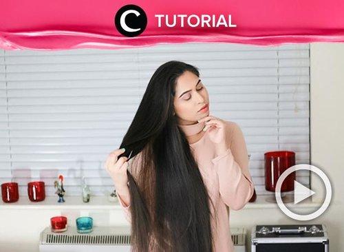 Agar tak rontok lagi, kamu harus memastikan rambutmu sehat hingga ke akar. Coba rawat menggunakan metode ini: http://bit.ly/366MxNe. Video ini di-share kembali oleh Clozetter @kyriaa. Lihat juga tutorial lainnya di Tutorial Section.