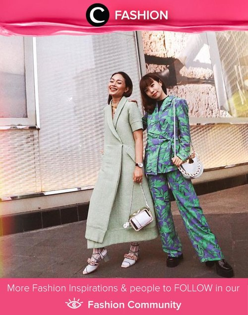 Matchy-matchy in green, Clozette Ambassador @steviiewong and Beauty Influencer Ayla DImitri! Simak Fashion Update ala clozetters lainnya hari ini di Fashion Community. Yuk, share outfit favorit kamu bersama Clozette.