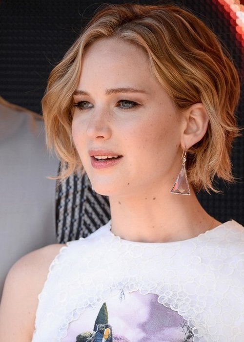 Celebrity Hairstyles 2014 – 2015: Jennifer Lawrence Short Haircut