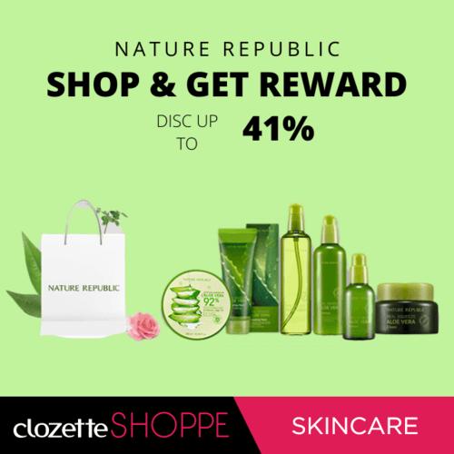Hey, Clozetters! Siapa sih yang tidak kenal dengan Nature Republic?  Skincare dari Korea ini sedang ada diskon up to 41% lho! Ayo buat kamu yang suka menggunakan produk Nature Republic ini pasti tidak akan menyianyiakan kesempatan ini. Produk diskon ini hanya ada di #ClozetteShoppe http://bit.ly/2pj1lJ8