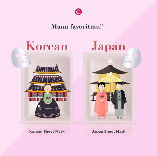 One of the most favorite skincare ever: sheet mask!✨Tahu nggak sih, Clozetters, kalau Korean dan Japan sheet mask adalah dua jenis yang berbeda. Kalau kamu, team yang mana? Tulis di kolom komentar, ya! #ClozetteID