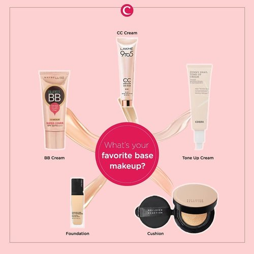 Beragamnya base makeup yang ada mungkin membuatmu sedikit bingung dalam menentukan, mana ya yang akan dipakai hari ini? Tapi, kalau diharuskan memilih satu base makeup ter-favorite, kamu bakal milih yang mana nih, Clozetters? Tulis di kolom komentar ya beserta alasannya #ClozetteID