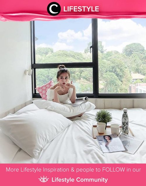 Clozette Ambassador @Silviamuryadi struck a pose in a white, cozy hotel room while traveling in Singapore. Simak Lifestyle Updates ala clozetters lainnya hari ini di Lifestyle Community. Yuk, share juga momen favoritmu.