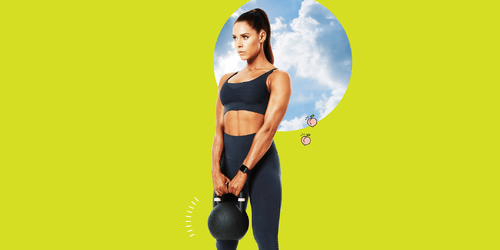 If You're Looking to Work All of the Muscles, Try This Kick Ass 15-Minute Full-Body Kettlebell Routine