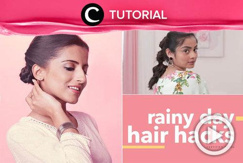 Tak perlu takut rambut berantakan ketika hujan, kamu bisa menyiasatinya dengan hair do ini: http://bit.ly/2Ro7qxO. Video ini di-share kembali oleh Clozetter @aquagurl. Lhat juga tutorial lainnya di Tutorial Section.