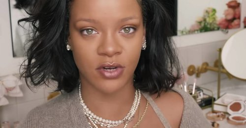 Rihanna shows off her makeup-free face in her new beauty tutorial to launch her summer products