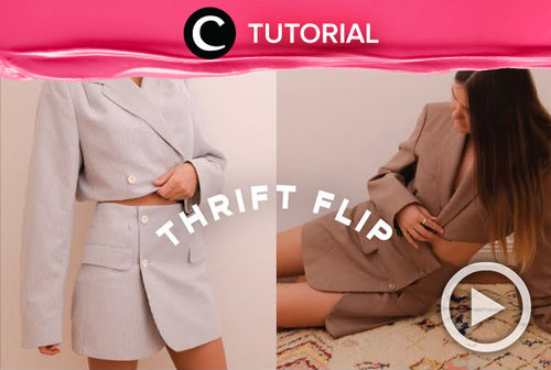 From an old oversized blazer to a stylish modern set. Here's the tutorial: http://bit.ly/392mRoS. Video ini di-share kembali oleh Clozetter @kyriaa. Lihat juga tutorial lainnya di Tutorial Section.