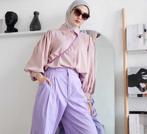 Super Gemes! Simak Inspirasi Mix And Match Outfit dengan Warna Lilac yang Cute