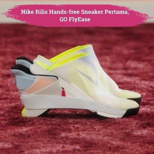 Brand sneaker favorit banyak orang, @nike kini merilis hands-free sneaker pertama, Go FlyEase. Sneaker ini dibuat dengan bi-stable hinge, didesain untuk atlet dan orang yang suka berpergian. Pada saat dilepas, sepatu terlihat seperti terbagi dua antara tumit dan telapak, sehingga tetap aman dalam keadaan terbuka atau tertutup sepenuhnya.  Fitur lainnya yaitu kickstand heel dan tensioner band untuk menahan sepatu dalam posisi terbuka atau tertutup. Available 15 Februari 2021 di website @nike, nih Clozetters!  📷 @hypebeast  #ClozetteID