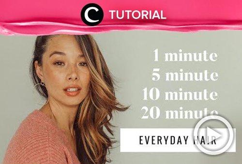 Tak sempat mengatur rambut? Coba intip cara ini: http://bit.ly/2ROIFMY. Video ini di-share kembali oleh Clozetter @salsawibowo. Lihat juga tutorial lainnya di Tutorial Section.