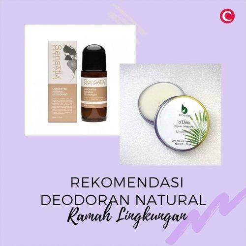 Resolusi 2021 pakai produk yang lebih ramah lingkungan, check!Kali ini Clozette punya rekomendasi deodoran dengan kandungan natural dan juga kemasan yang ramah lingkungan. Deodoran jenis ini juga aman digunakan untuk ibu hamil, menyusui, dan beberapa cocok untuk kamu yang vegan, lho..Ada rekomendasi lainnya? Share di kolom komentar, ya..📷 @bathendersoap @yaginatural @sustaination @dayou.indonesia @peekme.naturals @segaranaturals @sensatiabotanicals#ClozetteID #ClozetteIDVideo #deodorannatural #naturaldeodorant