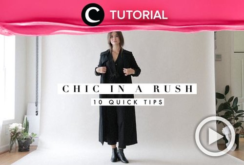 Chic effortless outfit tips for fall: http://bit.ly/31cogSZ. Video ini di-share kembali oleh Clozetter @aquagurl. Lihat juga tutorial lainnya di Tutorial Section.