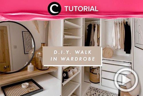 DIY walk in wardrobe ini bisa jadi inspirasimu, Clozetters: http://bit.ly/3rkMoRw. Video ini di-share kembali oleh Clozetter @salsawibowo. Lihat juga tutorial lainnya di Tutorial Section.