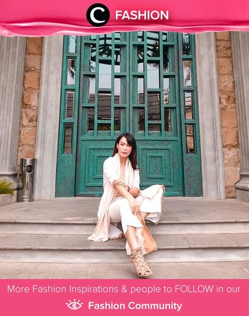 Hello, weekend! Clozetter @glowlicious spent her refreshing time in white-on-white outfit. Simak Fashion Update ala clozetters lainnya hari ini di Fashion Community. Yuk, share outfit favorit kamu bersama Clozette.