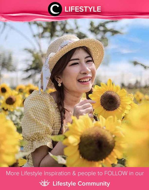 Advice from a sunflower: Be bright, sunny, and positive. Spread seeds of happines. Rise, shine, and hold your head high. Simak Lifestyle Updates ala clozetters lainnya hari ini di Lifestyle Community. Image shared by Clozetter @chikaliu. Yuk, share juga momen favoritmu.