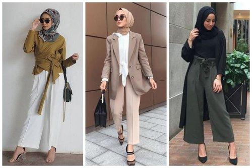 15 Padu Padan Celana Panjang Untuk ke Kantor Bagi Hijaber