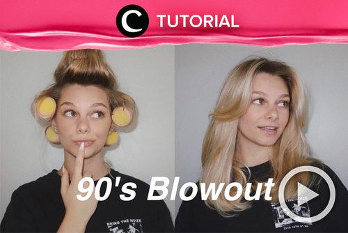 90's blowout dengan curtain bangs yang ikonik lagi in banget, nih! Get the look by following this tutorial: https://bit.ly/37bYIeo. Video ini di-share kembali oleh Clozetter @aquagurl. Lihat juga tutorial lainnya di Tutorial Section.