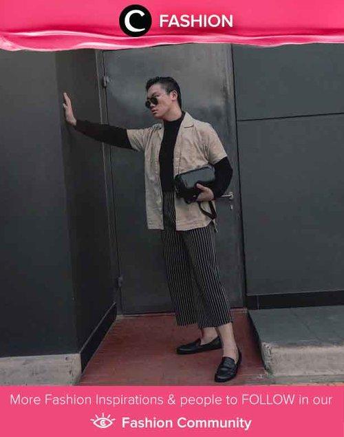 "Padu padan casual shirt & sweatshirt ala Clozetter @julianmatthew bisa kamu tiru untuk gaya yang terkesan ""boyish"". Simak Fashion Update ala clozetters lainnya hari ini di Fashion Community. Yuk, share outfit favorit kamu bersama Clozette."