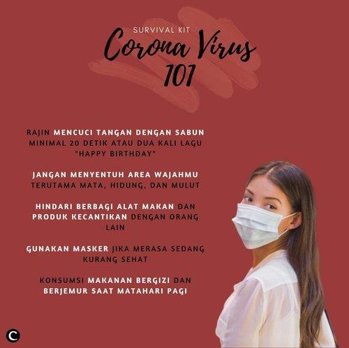 Setelah pemerintah mengumumkan bertambahnya pasien corona di Indonesia menjadi enam orang, kini corona virus sudah makin serius! Karena itu, kita harus mulai serius untuk mencegah virus tersebut. Ada beberapa langkah yang bisa kamu lakukan untuk pencegahan penyebaran virus corona, diantaranya adalah menjaga kebersihan dan mengonsumsi makanan yang bergizi. Don't panic but be cautious for COVID-19, Clozetters! #ClozetteID