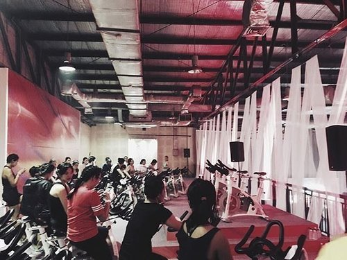 """""""Keep cycling #ForABetterMe!"""" That's the super mantra when Clozette Ambassador Cassandra doing the cycling session at #NTCTourJakarta last Saturday. #BetterForIt #ClozetteID"""