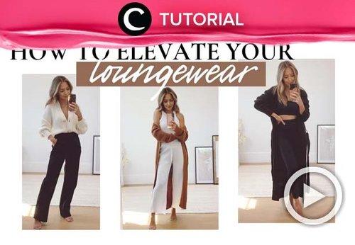 Easy ways to elevate your loungewear: https://bit.ly/3yY83TA. Video ini di-share kembali oleh Clozetter @aquagurl. Lihat juga tutorial lainnya di Tutorial Section.