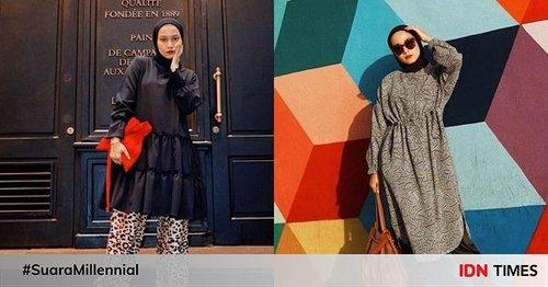 12 Outfit Hijab dengan Tunik ala Selebgram Chairunissa