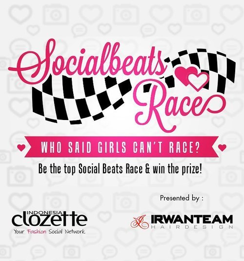 Pasti penasaran dong pengen tahu siapa saja pemenang Socialbeats Race dan mendapatkan voucher dari @irwanteamhairdesign senilai 1 juta rupiah. Go check out http://bit.ly/socialbeatrace dan cari section monthly winner (link on bio)  #ClozetteID