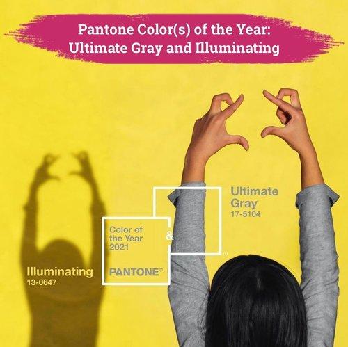 """Berbeda dari tahun sebelumnya, kali ini Pantone memperkenalkan dua warna sebagai color of the year di 2021, yaitu the neutral """"Ulimate Gray"""" dan the vibrant """"Illuminating"""" yellow.Ultimate Gray dipilih karena sebagai simbol untuk ketenangan dan ketentraman hari, sedangkan Illuminating dipilih karena melambangkan optimisme dan harapan. Perpaduan dua warna ini mewakilkan segala hal yang banyak orang butuhkan setelah melewati tahun yang berat di 2020.Ini adalah pertama kalinya warna achromatic terpilih sebagai color of the year dan kali kedua Pantone memilih dua warna setelah sebelumnya di tahun 2016 dua warna terpilih, yaitu Rose Quartz (atau yang dikenal dengan Millineal Pink) dan Serenity. So, are you ready to brighten up your year with this color duo?💛🤍📷 @pantone #ClozetteID #Pantone #Pantone2021 #ColorOfTheYear"""