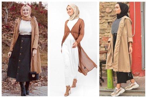 8 Tips Padu Padan Outerwear Warna Khaki yang Bagus untuk Hijaber