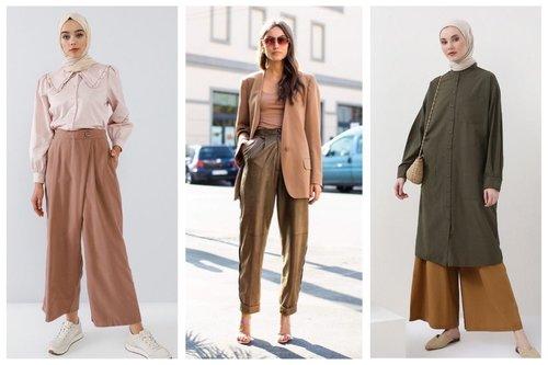 7 Tips Padu Padan Celana Panjang Warna Milo yang Elegan, Termasuk untuk Hijaber
