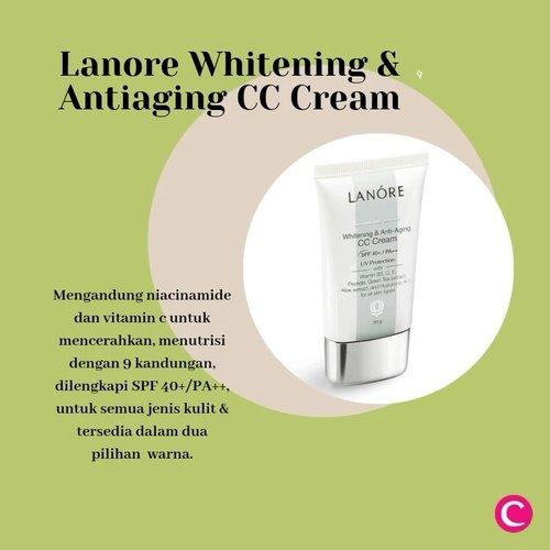Rekomendasi produk minggu ini: Lanore Whitening Antiaging CC Cream! ✨ Dengan 9 jenis kandungan, produk ini bisa dikatakan multifungsi karena dapat membantu mencerahkan kulit kusam, mengurangi kerutan, melembapkan dan meratakan warna kulit. Produk ini juga sudah dilengkapi dengan SPF 40+/PA++! Info lengkapnya juga bisa kamu baca di artikel berikut http://bit.ly/LanoreCCCream (link di bio).#ClozetteID #Lanore