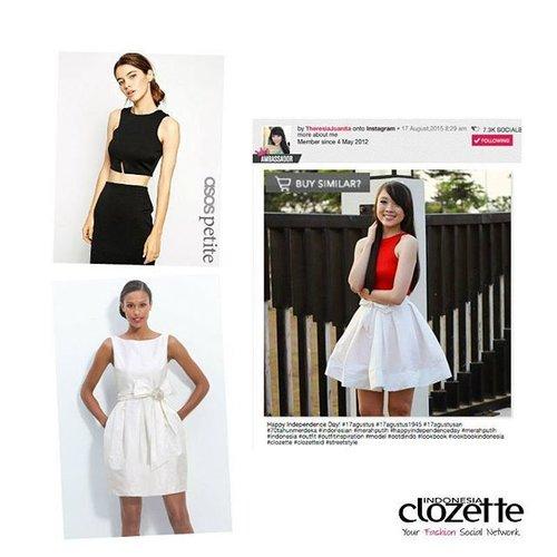 """Gaya feminin dengan flare skirt ala Clozette Ambassador sekarang dapat kamu """"curi"""" dengan fitur """"Buy Similar"""" di www.clozette.co.id  #ClozetteID #fashion #flareskirt"""