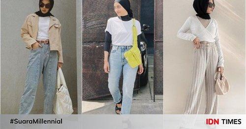 Kian Trendi, 9 Padu-padan Kaus Putih dengan Hijab