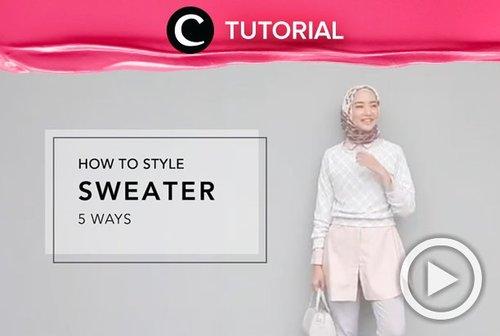 Musim hujan begini paling nyaman jika memakai sweater untuk kegiatan sehari-hari. Intip cara styling sweater yang oke di video berikut: http://bit.ly/2FOtzlk . Video ini di-share kembali oleh Clozetter @chocolatelove. Yuk, intip juga tutorial lainnya di Tutorial Section.