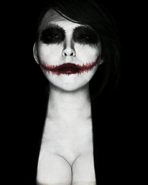 They laugh at me because i'm different. I laugh at them because they're all the same. (The Joker - Heath Ledger) .............#Beauty#style #sfxmakeup #joker #art#facepainting #specialeffectmakeup #モデル#メイク#メイク#かわいい #girl#beauty#ファッション#コーディ#ガール #clozetteID #specialeffect #undiscovered_muas #clozetteid #sfxartist#halloweenmakeup #halloween #ハロウィーン