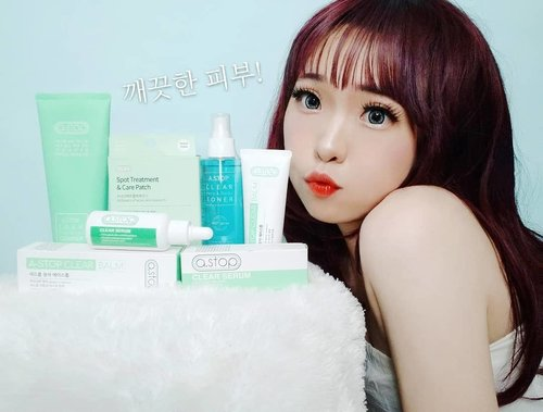 Annyeong! I want to share about my secret to prevent acne and give you IDR 237.000 off in total for all these products.  . a.stop is a skincare product effective for troubled skin which work fast and savely. It affects on reddish skin and pimples immediately, remove dead cells on the skin, as an antibacterial effect and soothing effect that give my skin its natural glow back. . As i said before, I have a serious problem with Acne & eczema, that's why i'm so picky to choose a product for my skin. That's why i'm super happy when i finally found a products to get rid from acne. Not gonna lie - but really, i highly recommend a.stop for everyone with acne skin problem like me. a.stop is Korean professional brand for the acne standart of acne treatment. . I use all of these products & I really-really love it! 💚 all the products containts lightweight formula and easily absorbed to the skin. Its calming scents also give a relaxation. Make acne and pimple dissapear very quickly . In Korea, there are a words to describe  a skin-goals :  🍀Sok-gwang [속광]: A natural glow and dewiness that seem to come from within. 🍀Mul-gwang [물광]: Very hydrated skin that looks like it's replenished to the max with water. . Get a special discount from me for a.stop products.  I'll give you AIYUKI8's Exclusive Offers through : . ✔️ a.stop Clear Balm : Save IDR 45.000 (Rp 315.000 👉 Rp 270.000) http://hicharis.net/AIYUKI/Mb5  ✔️ a.stop Foam Face & Body Cleanser  Save IDR 84.000 (Rp 294.000 👉 Rp 210.000)  https://hicharis.net/AIYUKI/Ncv ✔️ a.stop Clear Toner 155ml : Save IDR 32.000 (Rp 242.000 👉 Rp 210.000) https://hicharis.net/AIYUKI/Nrg ✔️ a.stop Clear Serum : Save IDR 53.000 (Rp 380.000 👉 Rp 330.000) http://hicharis.net/AIYUKI/LWw ✔️ a.stop Spot Treatment & Acne Patch : Save IDR 23.000 (Rp 173.000 👉 Rp 250.000) https://hicharis.net/AIYUKI/MUM . . @charis_celeb @hicharis #astop #CHARIS #CHARISSTORE #charisAPP #CharisCeleb #KoreanBeauty #Korea #hicharis #skincare #acneskin  #BeautyBlogger #BeautyVlogger #clozetteid #acnecare  #Makeup #Blogger #Cosmetics #style #Blog #korean  #Beauty #girls #kawaii #beautifulskin #flawlessskin #IndonesianBeautyBlogger