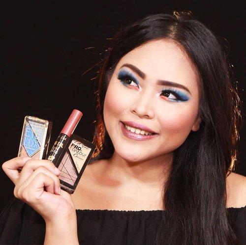 Hi guys! Ini dia essential products yang aku pake untuk look ini.  Products review: La Girl Eye Lux Eyeshadow ini warnanya pigmenteedd banget, dan supaya lebih nempel pakai eye primer yaa. Aku sukaa banget kombinasi warna biru dan peachnya adem kalem, tapi kalau diulaskan agak tebal, wow bisa bikin makeup mata kamu hitss!  Metal Liquid Lipstick : warnanya tersedia banyak banget , texture di bibir semi matte, ga bikin bibir kering dan rasanya tetep moist aja dibibir.  Pro Contour Cream : kalau untuk urusan contour/shading la girl dari dulu emg udah paling juara, cocok banget untuk kamu yang pengen bikin shading mateng. Shading mateng apa sih? Haha itu istilah aku andaikata mau pakai shading dalam (dalam bentuk cream) kemudian ditimpa lagi tipis2 sama shading luar (yaitu dalam bentuk powder). Biasanya aku kalau udah pakai shading mateng begini, awetnya bisa 8-12jam deh.. hehe  Lavvv 💗 💗 @lagirlcosmetics @lagirlindonesia  #lagirl #lagirlcosmetics #lagirlinfluencer #lagirlindonesia #beautynesiamember #clozetteid #clozetter #makeupwithregina #indobeautygram #indobeautyblogger #mua #mue #makeuplook #beautyaddict  #blueeyeshadow #instamakeup #instabeauty #newproduct #newproductlaunching #eyeshadow #metalliclips #contouritlikeexpert #contour #indobeautyinfluencer #instagram #instagood #motd