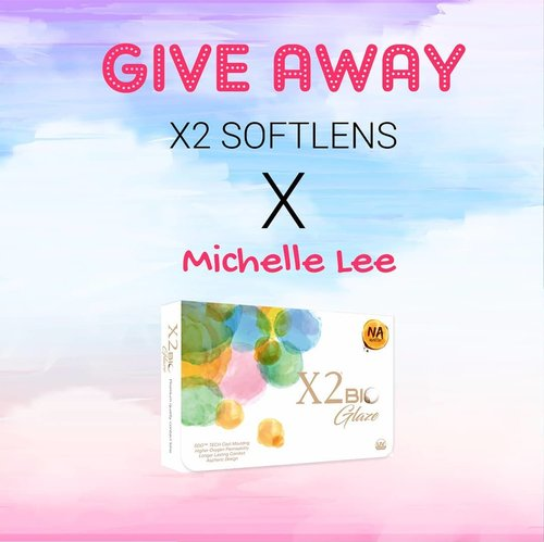 ❤[[GIVEAWAY ALERT!!!]]❤ . I'm collaborating with @X2SOFTLENS gengs! Siapa yg mau dapetin softlens dari X2 ini? Akan dapet 2 pasang softlens + 1 solution water & aku akan pilih 3 pemenang yaa 😘 . RULES:  1. Follow aku & @x2softlens 2. Invite id line @X2society 3. Repost this photo & tag 5 of your friends. 4. Profil jangan di private. 5.	Tulis hastag  #MichelleLeeGiveAway #x2soflensxMichelleLee #x2soflens #x2bioglaze #goodbyecontactlensdryness #sddtechnology 6. Saat repost sertakan screenshoot bukti telah follow kita + invite Line X2 yaa. 7. Those who unfollow us after the giveaway finished will be blocked from future Giveaway. . ⭐THE PRIZES: X2 Bio Glaze boleh req warna dan ukuran + BIO color blue + Ice Mps 120 ml⭐ . Periode: 24 - 30 Mei 2018 Let's join & good luck 😘😘 . . . . . . . #ivgbeauty #indobeautygram #makeuptutorial #makeupreview #makeup #wakeupandmakeup #hudabeauty #featuremuas #undiscovered_muas #indobeautyblogger #indobeautyvlogger #beautyvlogger #beautyinfluencer #beautybloggerindonesia @tampilcantik #tampilcantik #ClozetteID  #ibv #tutorialmakeup #charis #charisceleb