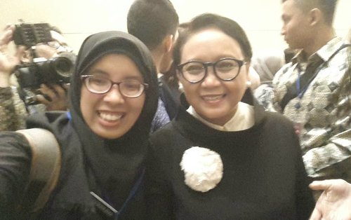 "Now,  proudly been here, stand beside Mrs. Retno L.P Marsudi, But next.... i hope it wil be.... Attending ""Regional Youth Conference on Peace and Tolerance"" ASEAN Institute for Peace and Reconciliation (ASEAN IPR) #DuniaBiza #ClozetteId"