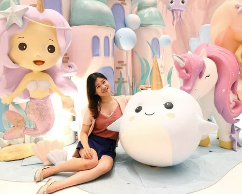 Pastel decors, mermaid, and unicorn 🦄 This spot looks like a scene of fairy tale, isn't it? 😝 . There is many other cute dreamy unicorn spots available at #MOIUnicornLand @mallofindonesia which available until 14th July 2019 ❤️ More details go check out @mallofindonesia 😘 . . #Unicorn #UnicornLand #Mermaid #FeelsLikeFairyTale #UnderTheSea #CuteInstallation #ClozetteID