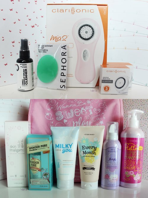 blogged about my beauty haul during my holidays ^^ http://violetbrush.blogspot.com/2015/01/holiday-beauty-haul-clarisonic-sephora.html