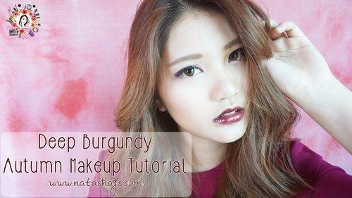 [Violet Brush] Deep Burgundy Autumn Makeup Tutorial - YouTube