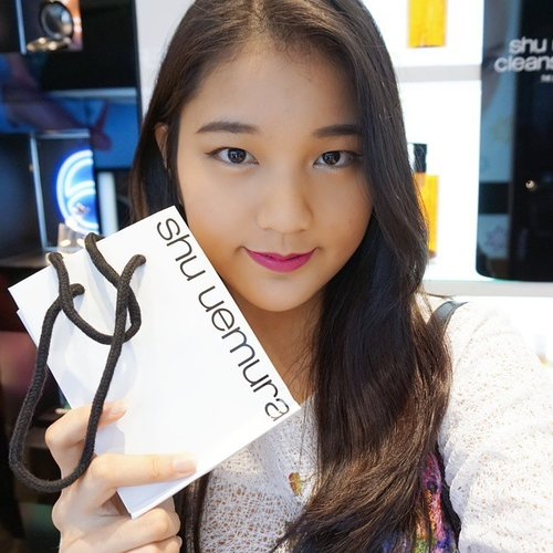 #throwback to @shuuemuraid grand opening, was trying out their Tint In Gelato and loved it very much! check out the event report on my blog >>  #natashajs #violetbrush #ClozetteID #shuuemura