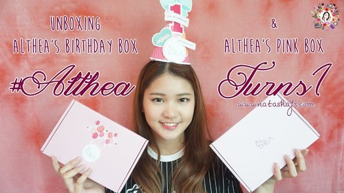 [Violet Brush] Unboxing Althea's Pink Box & Birthday Box #AltheaTurns1 - YouTube